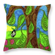 Falling Leaves Throw Pillow