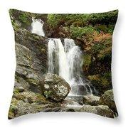Falls At Inversnaid In Autumn Throw Pillow