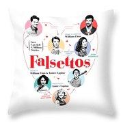 Falsettos Throw Pillow