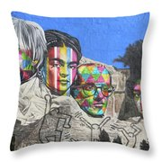 Famous Contemporary Artists Mural Throw Pillow