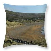 Fanore Beach The Burren Throw Pillow