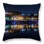 Fantastic Belgrade Night Reflection Throw Pillow