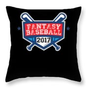 Fantasy Baseball Design 2017 Throw Pillow
