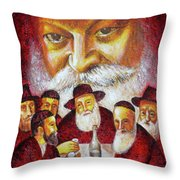 Farbrengen With The Rebbe Throw Pillow