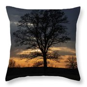 Farm Country Sunset Throw Pillow