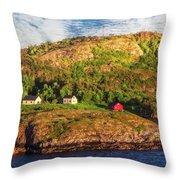 Farm On The Edge Throw Pillow