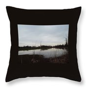 Farm Pond Throw Pillow