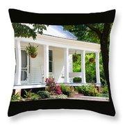 Farmhouse At Mcdaniel Farm Park Throw Pillow