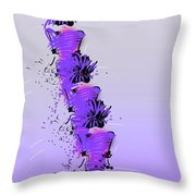 Fashion Models Looking Chic In Violet With A Touch Of Pink Throw Pillow