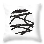 Fastball 2- Modern Art By Linda Woods Throw Pillow