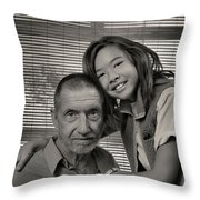 Father And Daughter Throw Pillow by Ron Cline