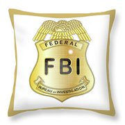 Fbi Badge Throw Pillow