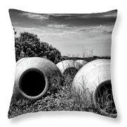 Feed Me - Black And White Throw Pillow