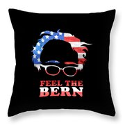Feel The Bern Patriotic Throw Pillow