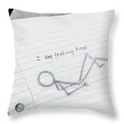 Feeling Tired Throw Pillow