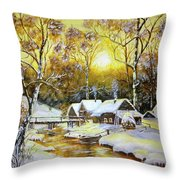 Feerie Winter Throw Pillow