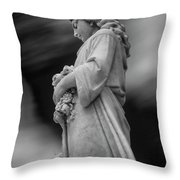 Female In Cemetary II Throw Pillow
