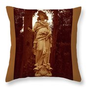 Goddess Statue Throw Pillow