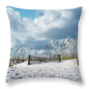Fences In The Sand Throw Pillow