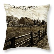 Ferndale Barn Throw Pillow