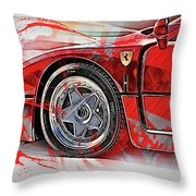 Ferrari F40 - 11 Throw Pillow