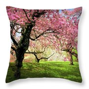 Cherry Orchard Afternoon Throw Pillow