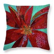 Fiery Bromeliad I Throw Pillow