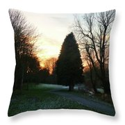 Figgate Sunset Throw Pillow
