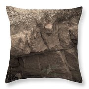 Figurative V Throw Pillow by Catherine Sobredo