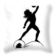 Figure Lifting Dumbbell, Illustration For Gottliche Jugen Ein Tag Aus Dem Sonnenlande Throw Pillow
