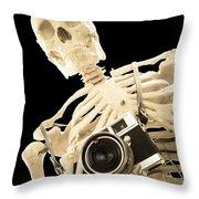 Film Is Dead Throw Pillow