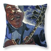 Finessing Lucille - Bb King Throw Pillow