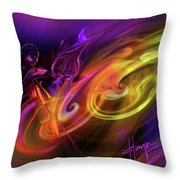 Cellist In Space Throw Pillow