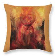 Fire Earth Latte Stone Throw Pillow