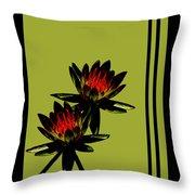 Fire Lilies Throw Pillow
