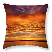 Fire Over Lake Eustis Throw Pillow