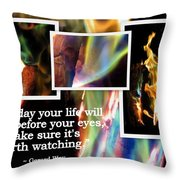 Fire With Color Throw Pillow