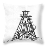Firetower Helena, Montana Throw Pillow
