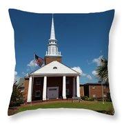 First Baptist Church North Myrtle Beach S C Throw Pillow