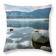 First Light Reflection Throw Pillow