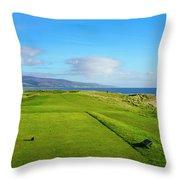 First Tee At Brora Golf Club, Moray Throw Pillow