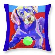 First Tennis Ball Throw Pillow