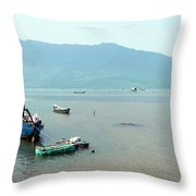 Fisherman In Lang Co, Vietnam Throw Pillow