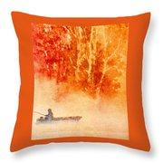 Fisherman's Mist Throw Pillow