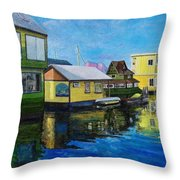 Fisherman's Wharf In Victoria Throw Pillow