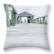 Fishing Dock Cape Cod Throw Pillow