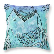 Fishing For Adventure Throw Pillow