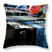 Abstract Fishing   Throw Pillow