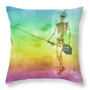 Fishing Man Throw Pillow