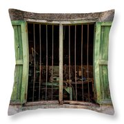 Fishing Village Window Throw Pillow by Tom Singleton